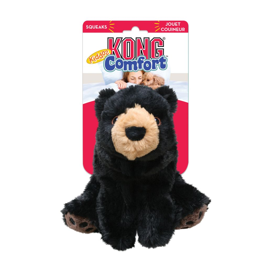 KONG Comfort Kiddos Bear Plush Dog Toy Image