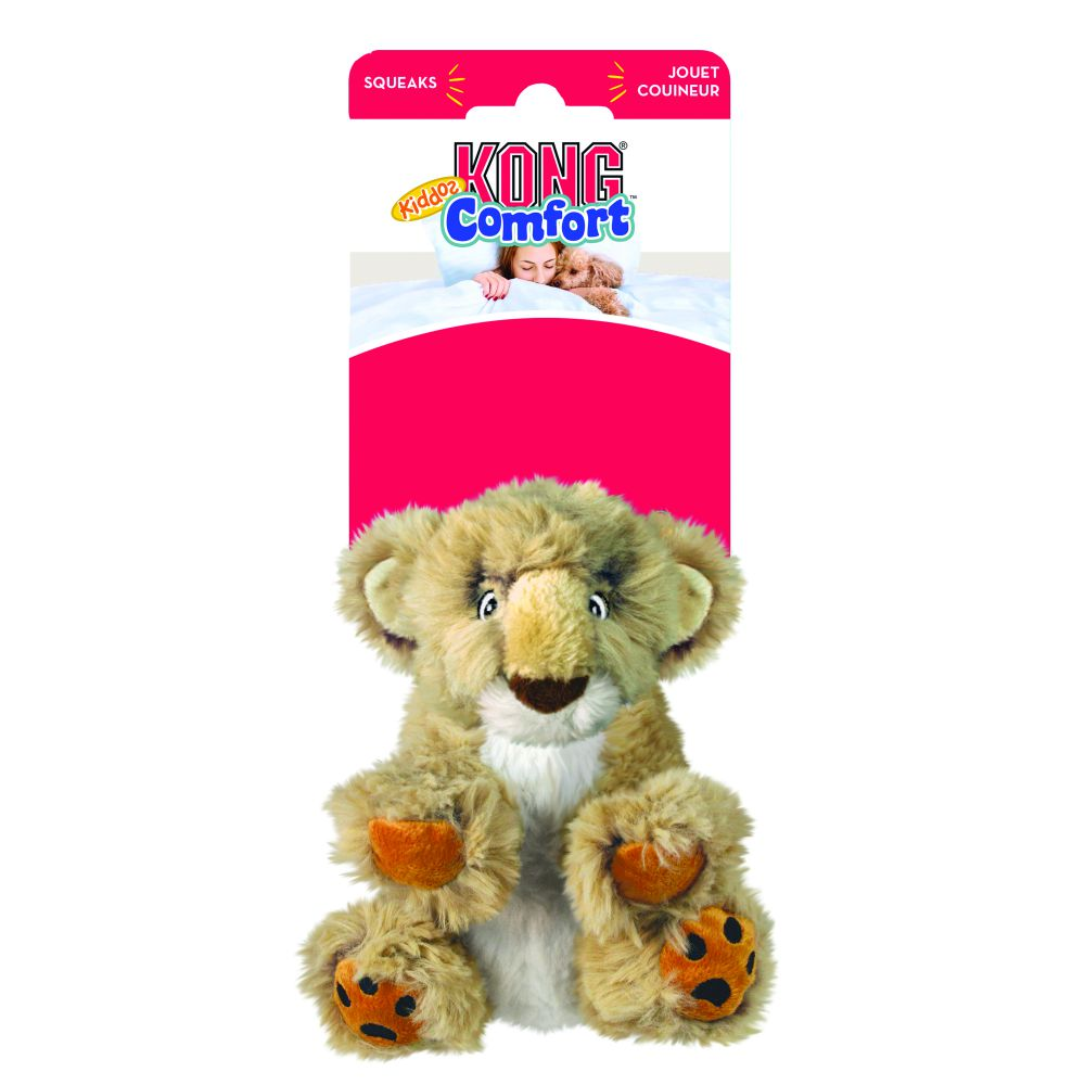 KONG Comfort Kiddos Lion Plush Dog Toy, Large