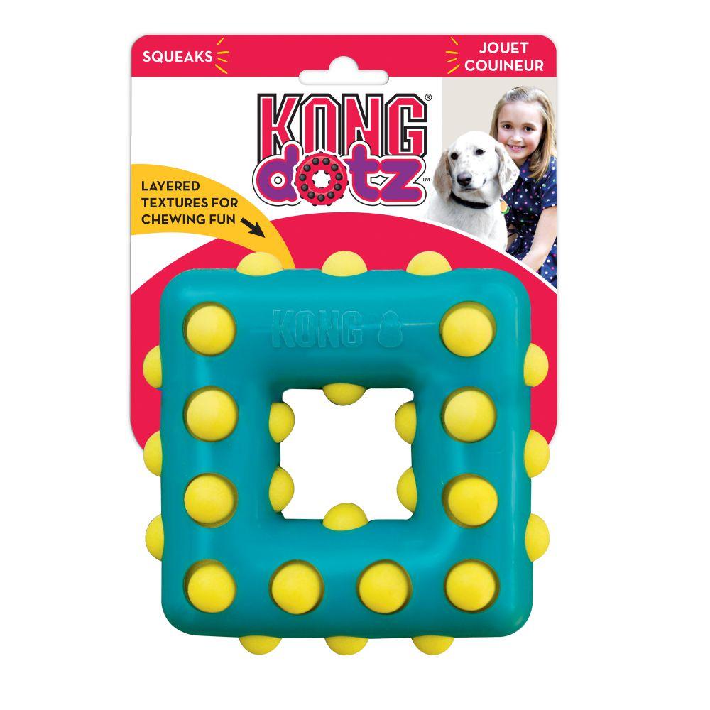 KONG Dotz Square Dog Chew Toy, Small