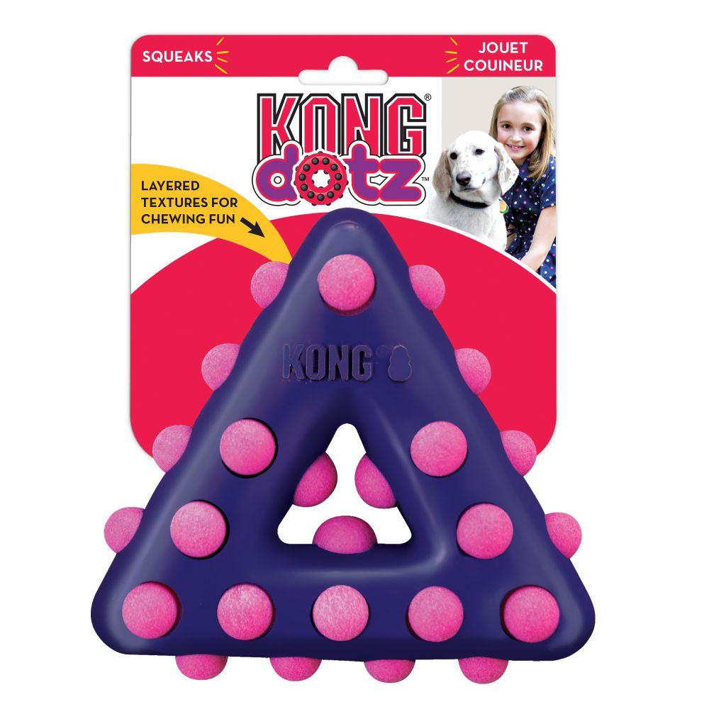 KONG Dotz Triangle Dog Chew Toy, Large