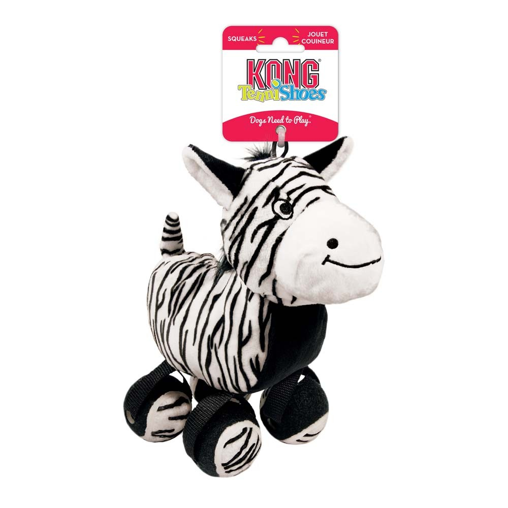 KONG Tennishoes Zebra Dog Toy , Small