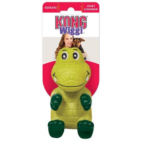 KONG Wiggi Alligator Dog Toy, Small