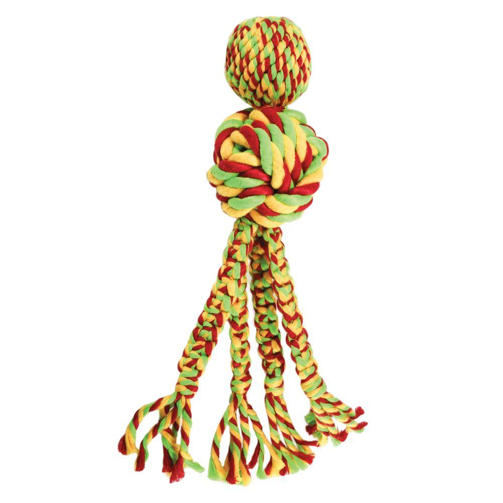 KONG Wubba Weaves with Rope Dog Toy, Color Varies Image