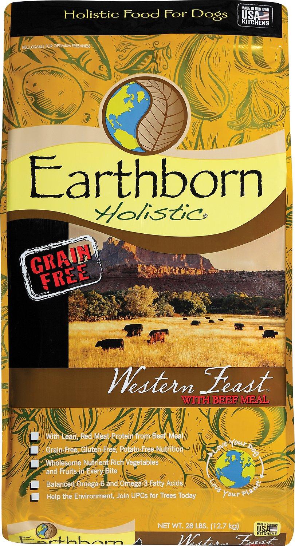 Earthborn Holistic Western Feast Feast Grain-Free Natural Dry Dog Food, 28-lb