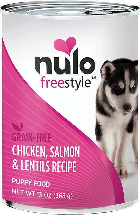 Nulo Dog Freestyle Pate Chicken, Salmon & Lentils Recipe Grain-Free Puppy Canned Dog Food, 13-oz