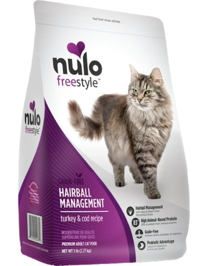 Nulo Cat Freestyle Hairball Management Turkey & Cod Recipe Grain-Free Dry Cat Food, 5-lb