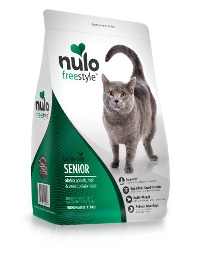 Nulo Cat Freestyle Senior Pollock, Duck, & Sweet Potato Recipe Grain-Free Dry Cat Food, 5-lb