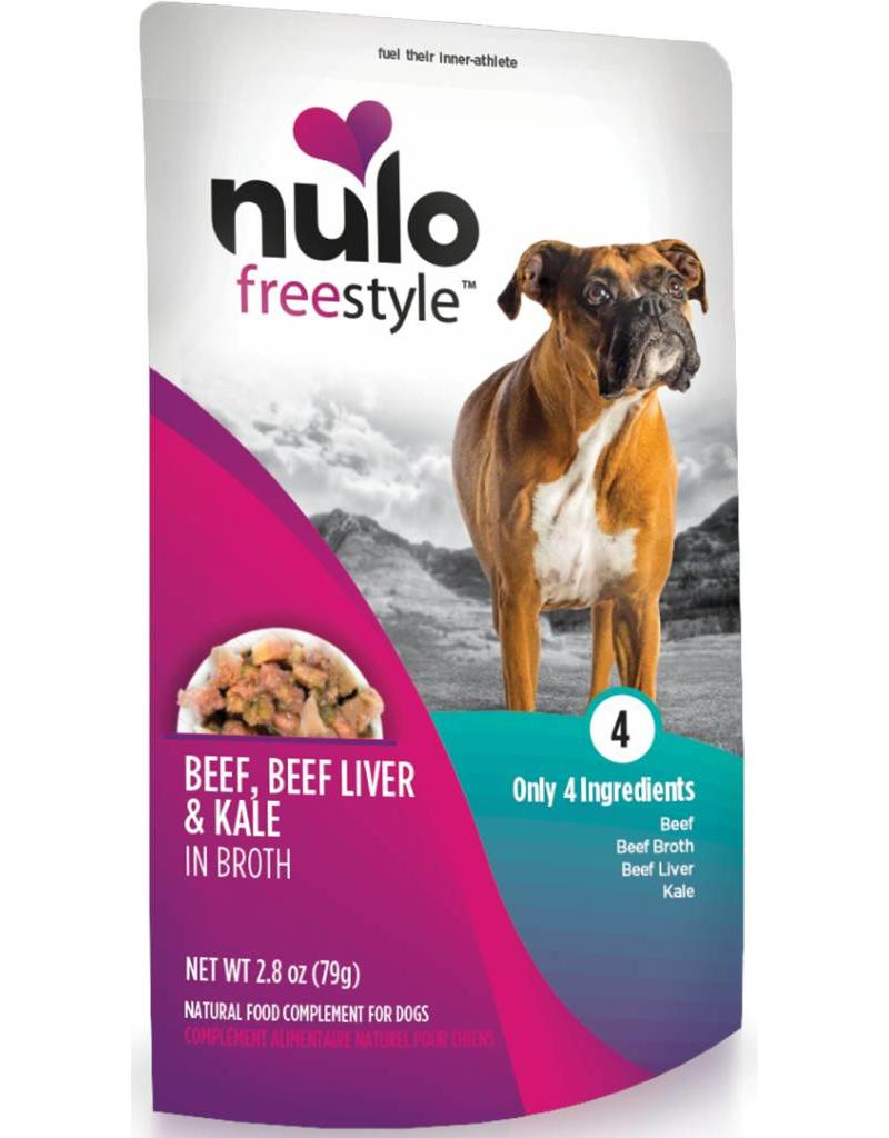 Nulo Dog Freestyle Pouch Beef, Beef Liver & Kale in Broth Grain-Free Dog Food Topper Image