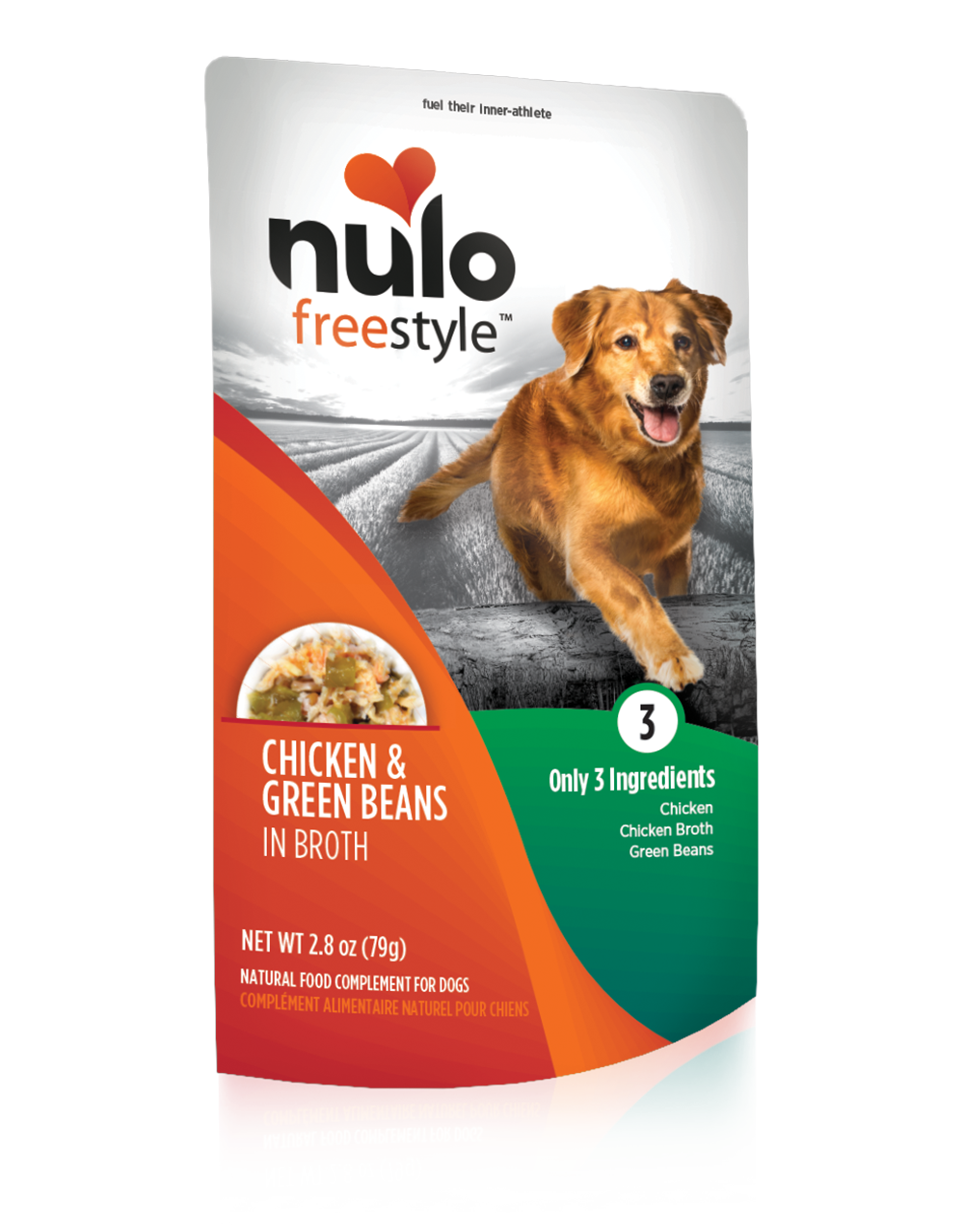 Nulo Dog Freestyle Pouch Chicken & Green Beans in Broth Grain-Free Dog Food Topper, 2.8-oz