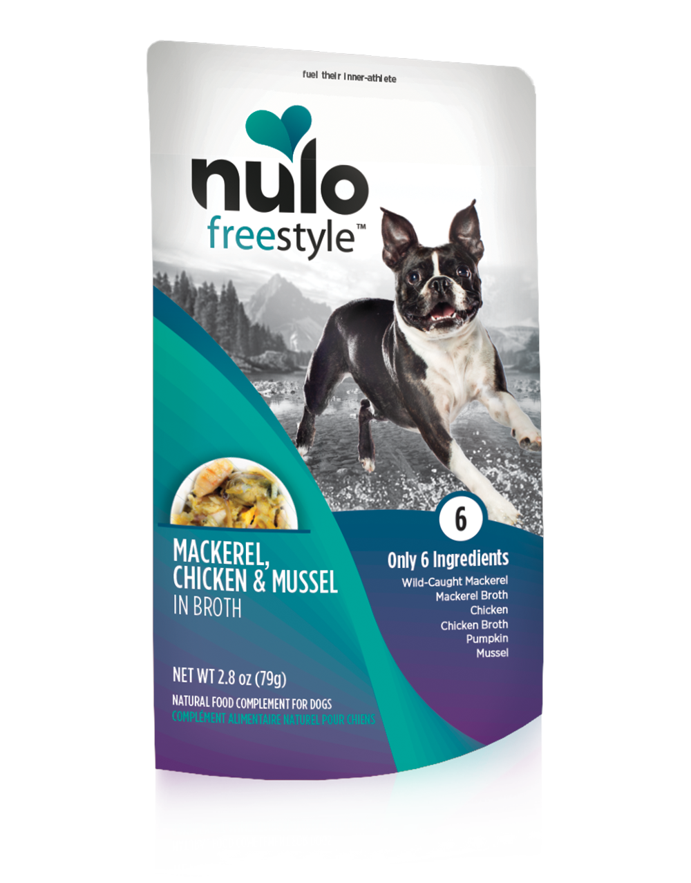 Nulo Dog Freestyle Pouch Mackerel, Chicken & Mussel in Broth Grain-Free Dog Food Topper, 2.8-oz