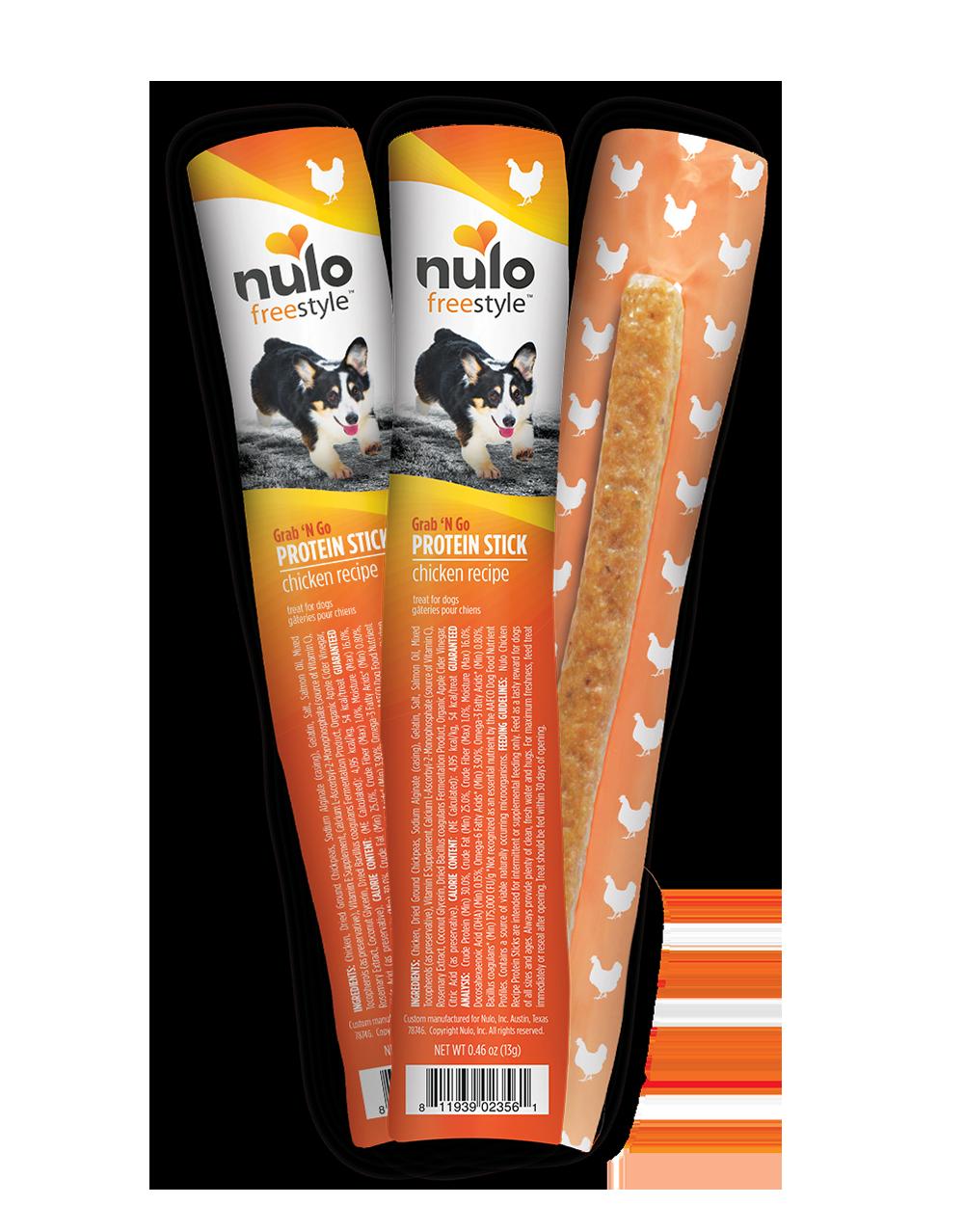 Nulo Dog Freestyle Grab 'N Go Protein Sticks Chicken Recipe Dog Treat, 0.63-oz