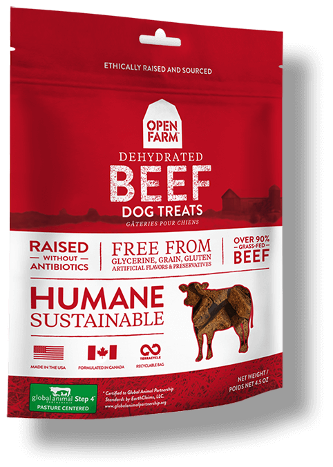 Open Farm Dehydrated Beef Dog Treats, 4.5-oz