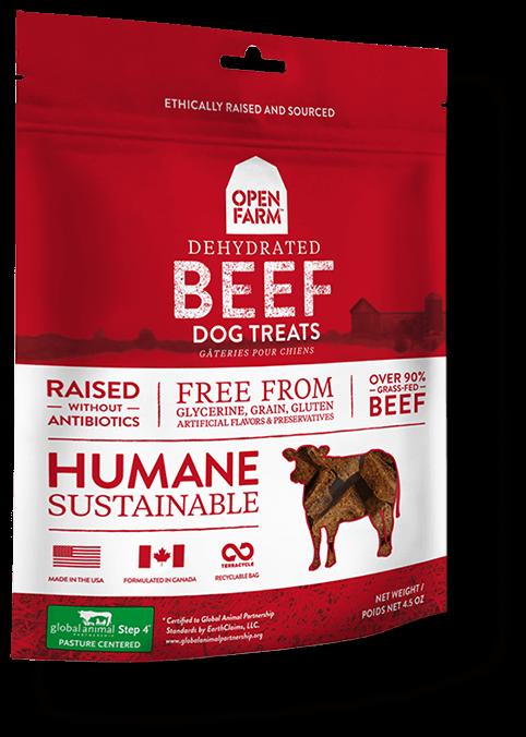 Open Farm Dehydrated Beef Dog Treats, 4.5-oz