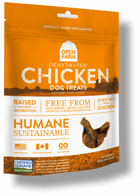 Open Farm Dehydrated Chicken Dog Treat, 4.5-oz