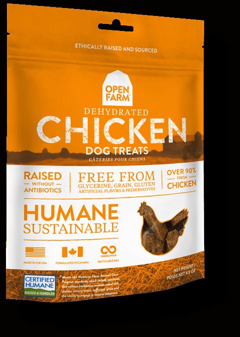 Open Farm Dehydrated Chicken Dog Treat, 4.5-oz