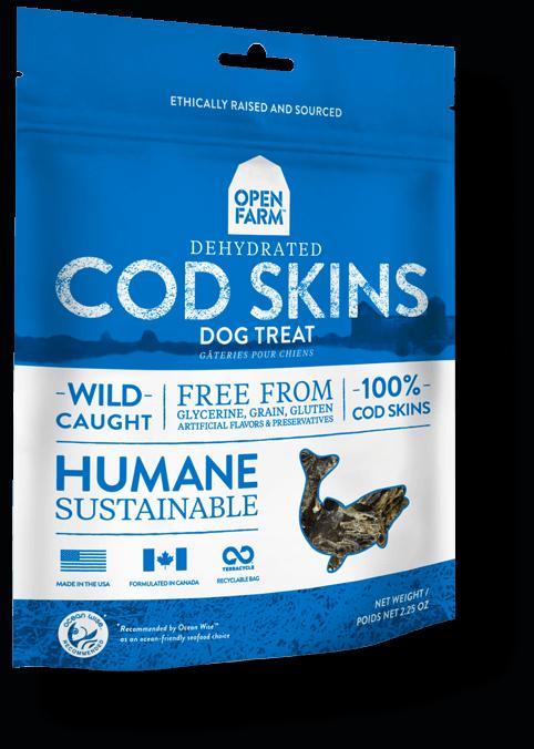 Open Farm Dehydrated Cod Skins Dog Treat, 2.25-oz