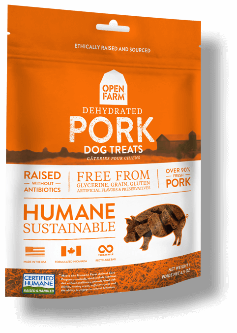 Open Farm Dehydrated Pork Dog Treats, 4.5-oz