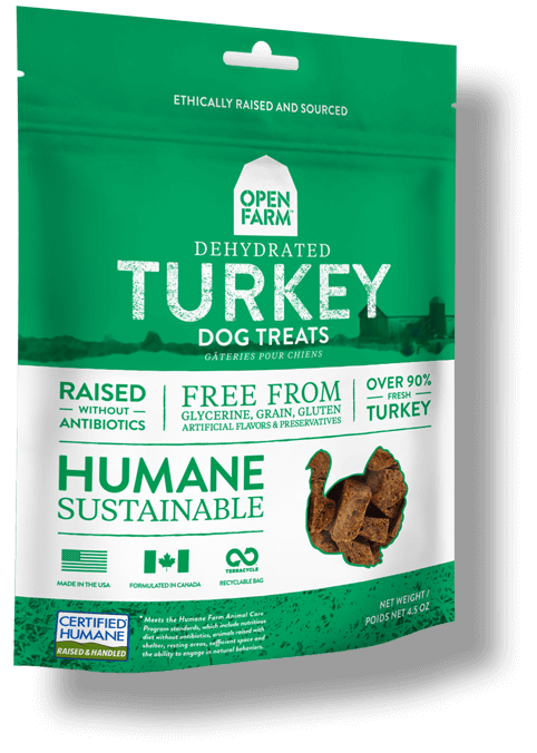 Open Farm Dehydrated Turkey Dog Treats, 4.5-oz
