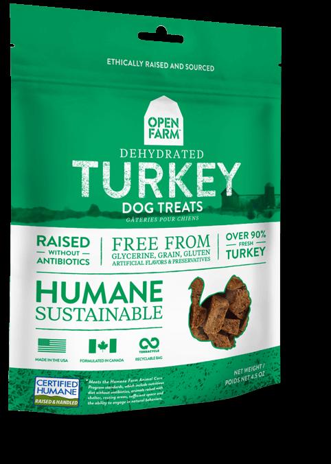 Open Farm Dehydrated Turkey Dog Treats, 4.5-oz