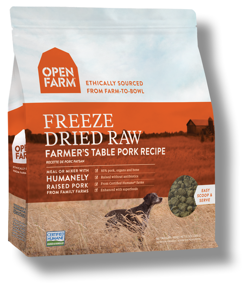 Open Farm Farmer's Table Pork Recipe Raw Freeze-Dried Dog Food, 13.5-oz