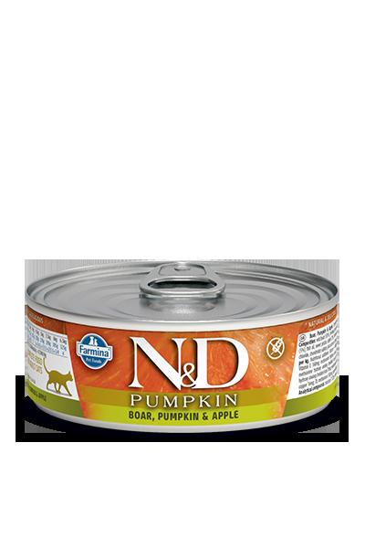 Farmina N&D Pumpkin Boar, Pumpkin & Apple Wet Cat Food, 2.8-oz