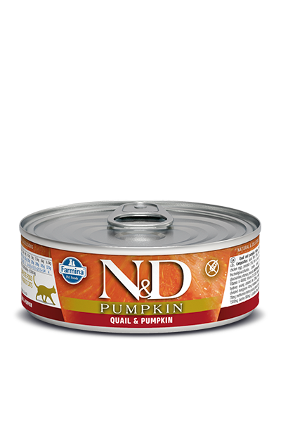 Farmina N&D Pumpkin Quail & Pumpkin Wet Cat Food, 2.8-oz
