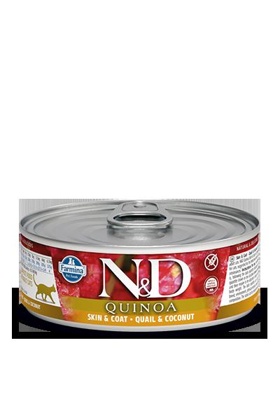 Farmina N&D Quinoa Skin & Coat Quail Wet Cat Food Image