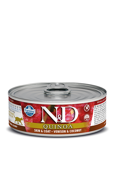 Farmina N&D Quinoa Skin & Coat Venison Wet Cat Food Image