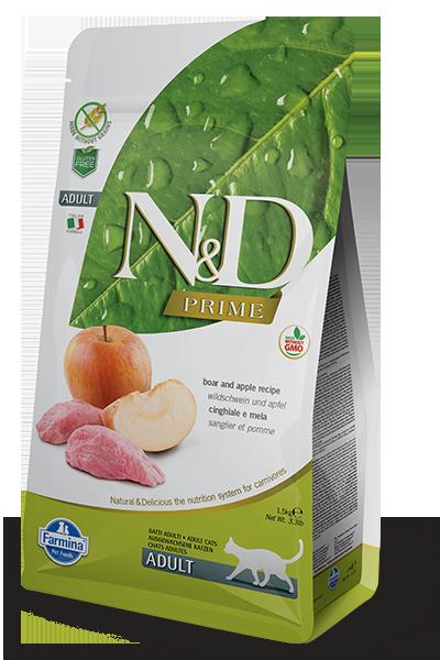 Farmina N&D Prime Boar & Apple Dry Cat Food, 3.3-lb