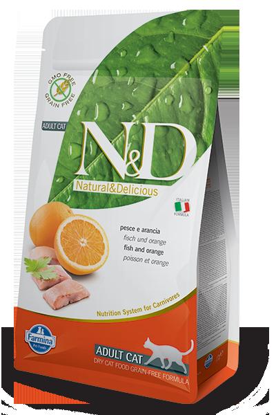 Farmina N&D Prime Fish & Orange Dry Cat Food, 11-lb