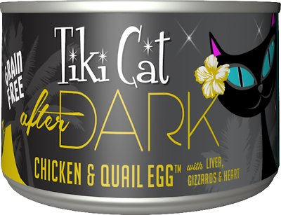 Tiki Cat After Dark Chicken & Quail Canned Cat Food, 5.5-oz, case of 8