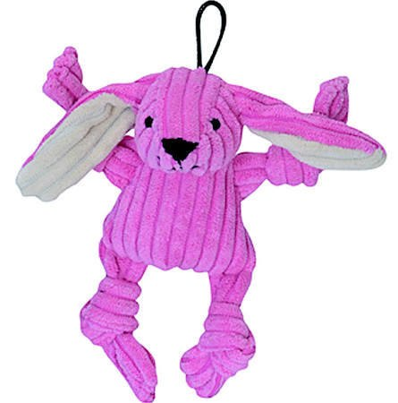 HuggleHounds Knottie Bunny Dog Toy, Wee