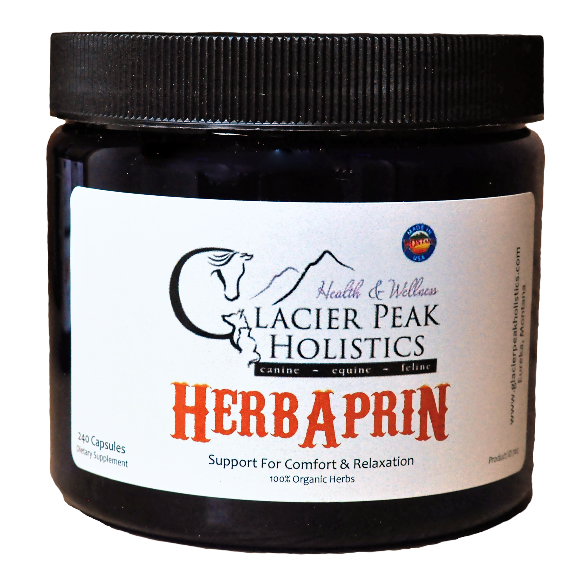 Glacier Peak Holistics HerbAprin Capsules Dog Supplement, 120 Count