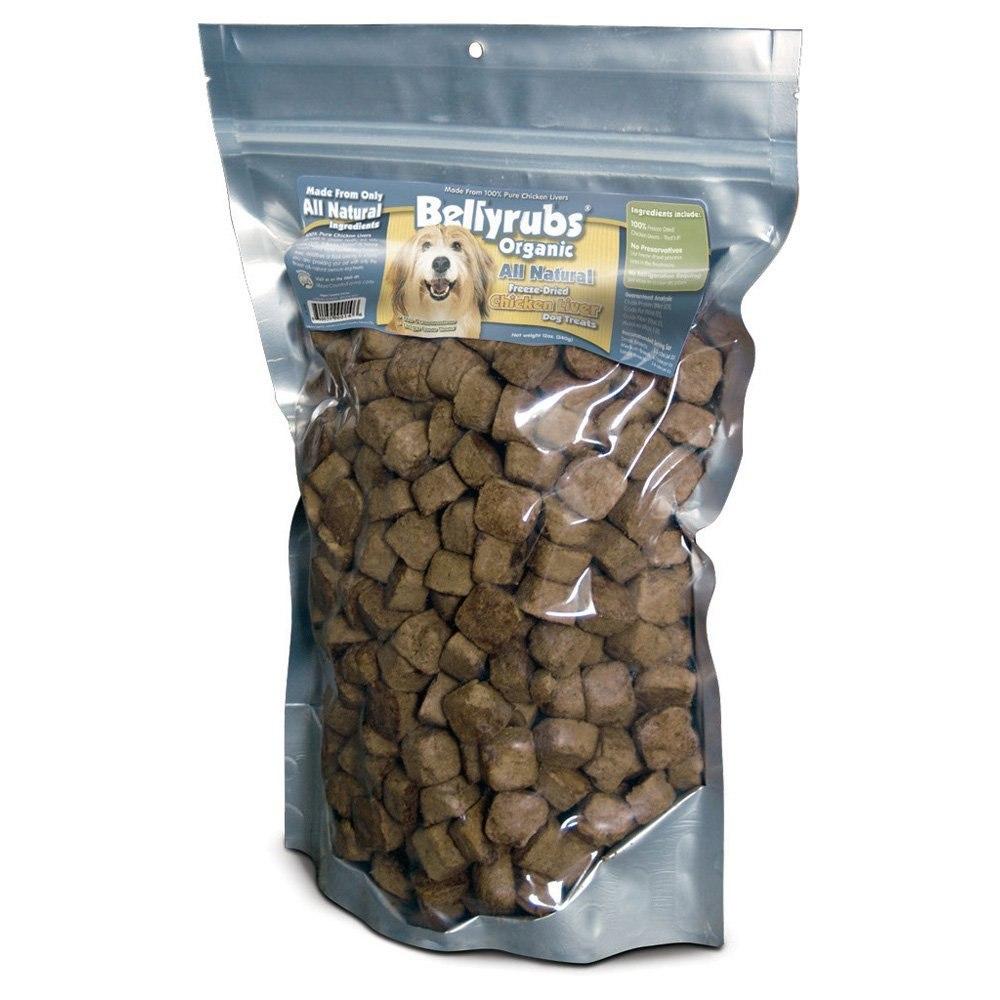 Bellyrubs Organic All Natural Chicken Liver Freeze-Dried Dog Treats, 12-oz