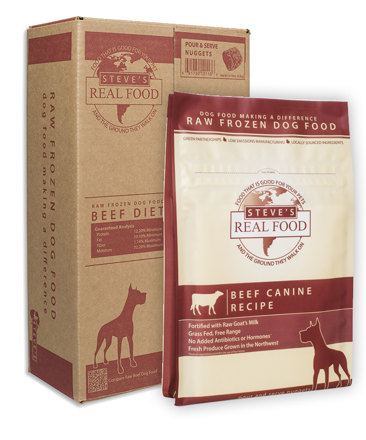 Steve's Real Food Beef Patties Raw Frozen Dog Food, 20-lb