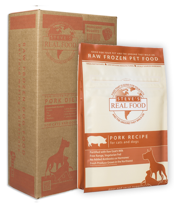 Steve's Real Food Pork Patties Raw Frozen Dog Food, 13.5-lb