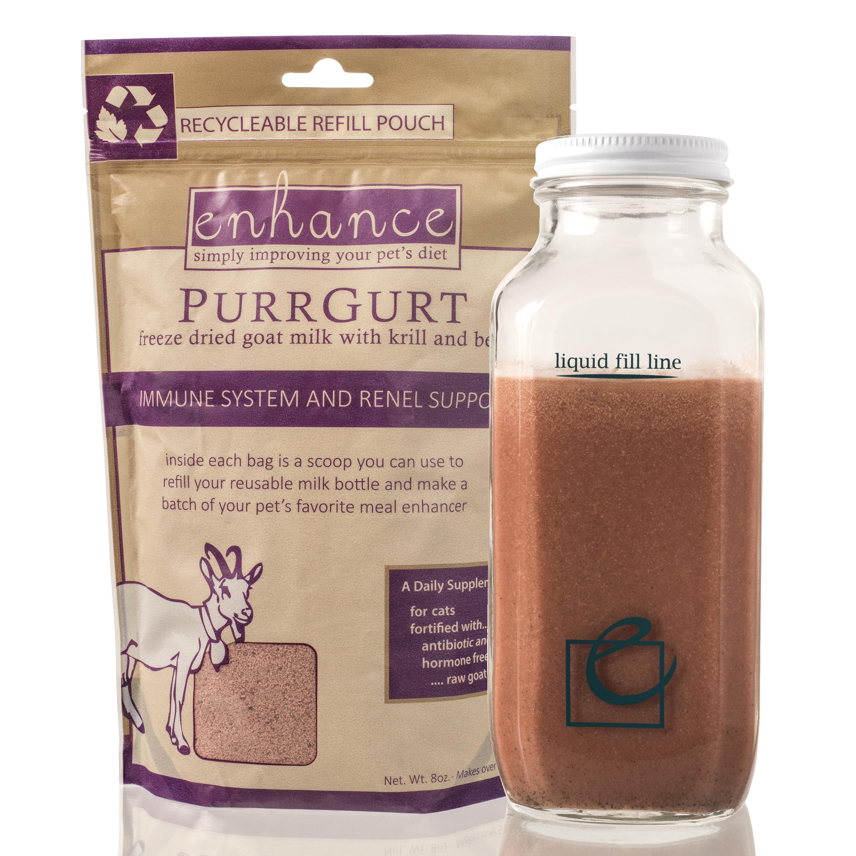 Steve's Real Food Enhance PurrGurt Refill Bottle, 1.6-oz