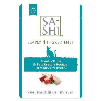 Rawz Cat Sa‐Shi Topper Tuna and Sea Bream Pouch, 1.76-oz, case of 8