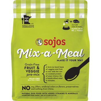 Sojos Dog Freezedried GF Fruit Veggie Pre‐Mix , 8-lbs