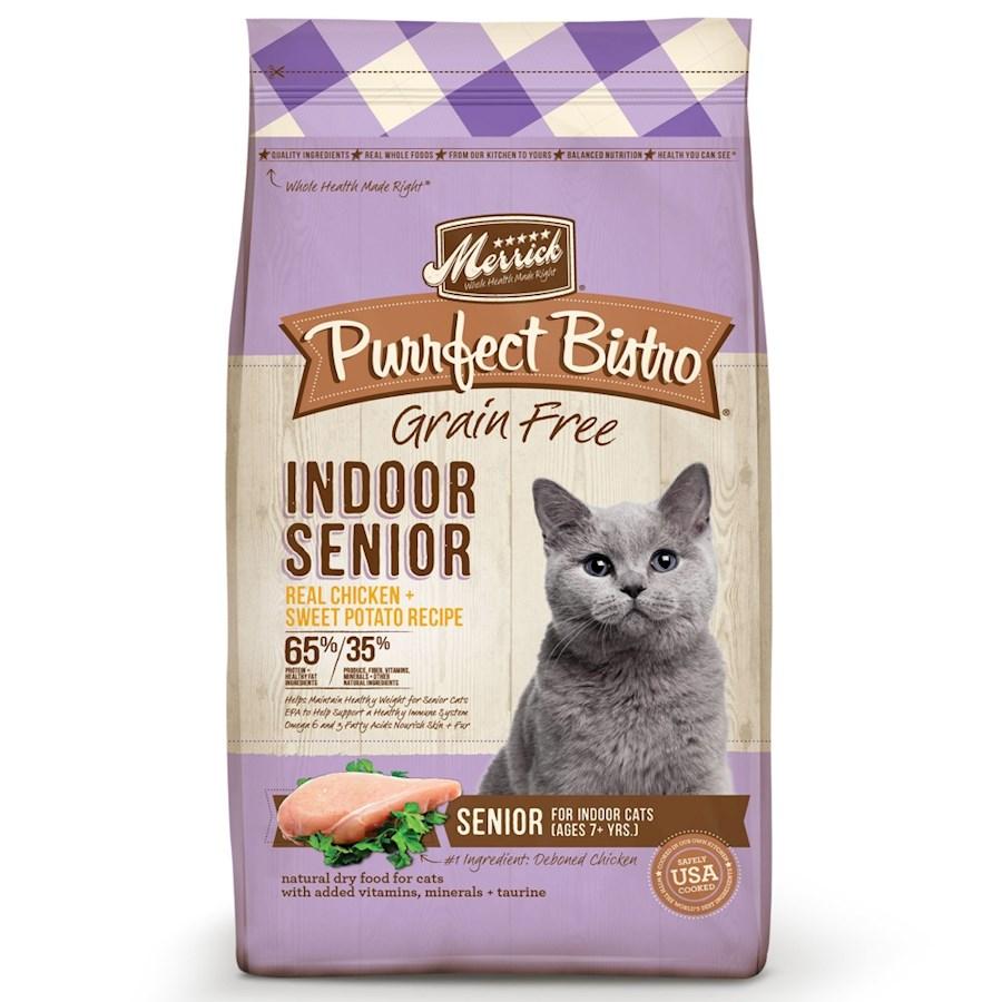 Merrick Purrfect Bistro Grain-Free Indoor Senior Recipe Dry Cat Food Image