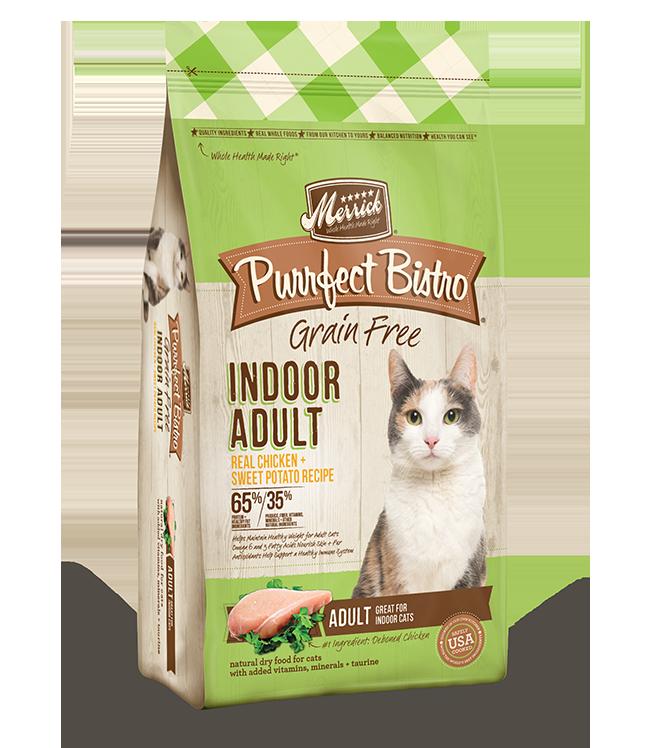 Merrick Purrfect Bistro Grain-Free Indoor Adult Chicken & Sweet Potato Recipe Dry Cat Food, 4-lb