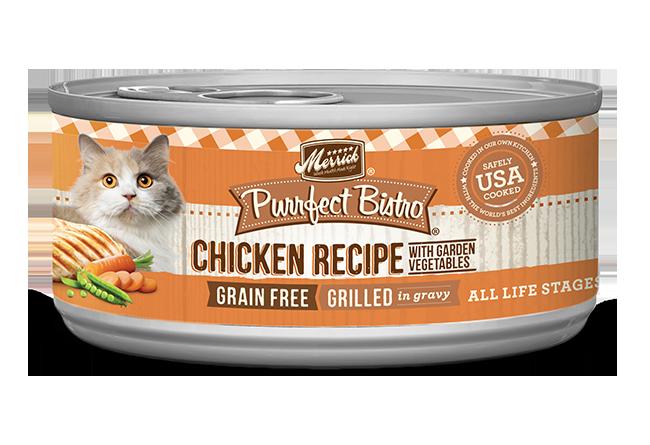 Merrick Purrfect Bistro Chicken & Vegetables Recipe Cat Wet Food, 5.5-oz