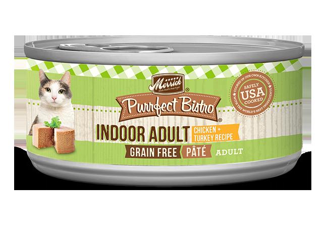 Merrick Purrfect Bistro Indoor Adult Chicken & Turkey Pâté Cat Food, 3-oz