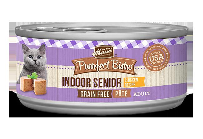 Merrick Purrfect Bistro Indoor Senior Pâté Chicken Cat Food, 3-oz