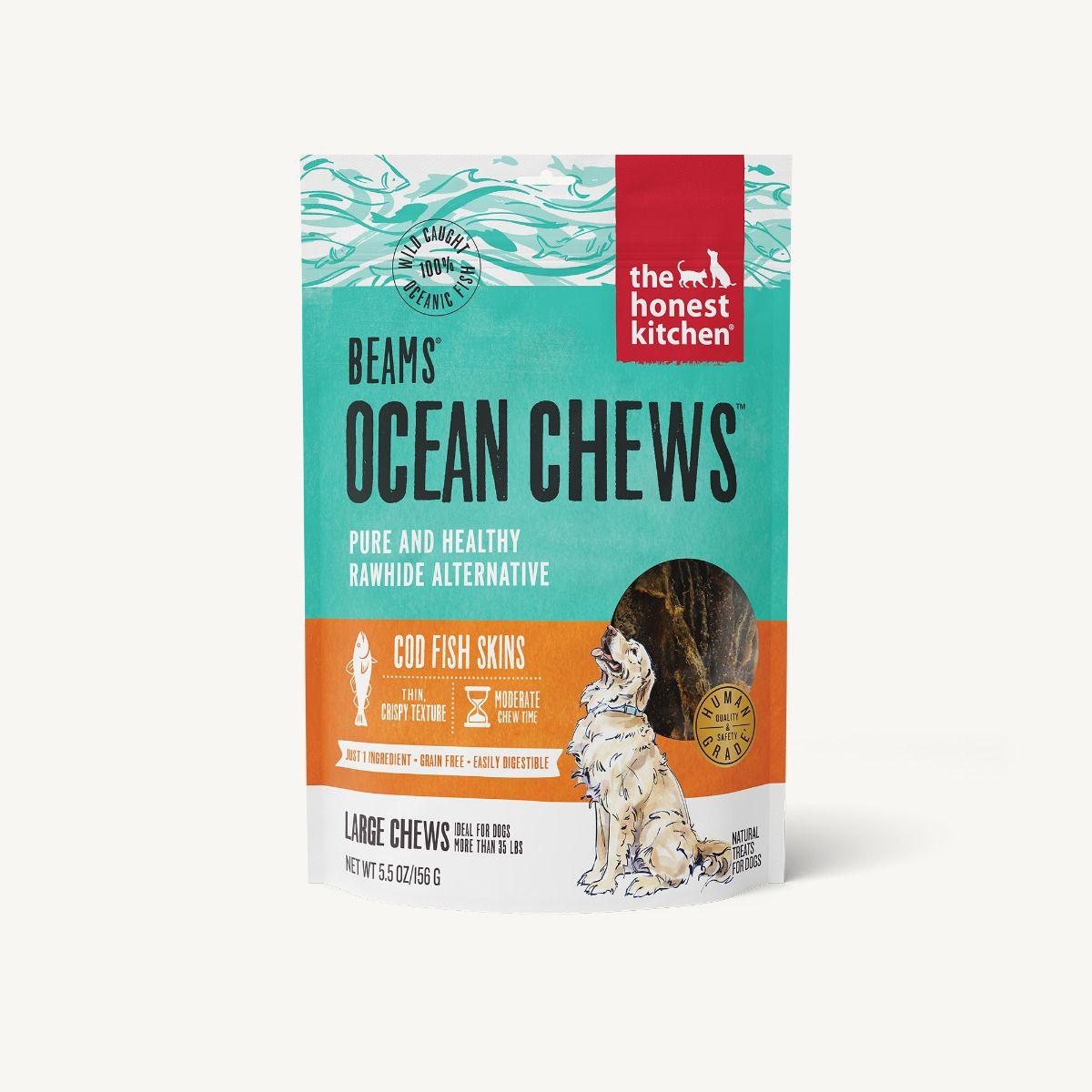 The Honest Kitchen Beams Ocean Cod Fish Skins Dog Chews, 2.75-oz
