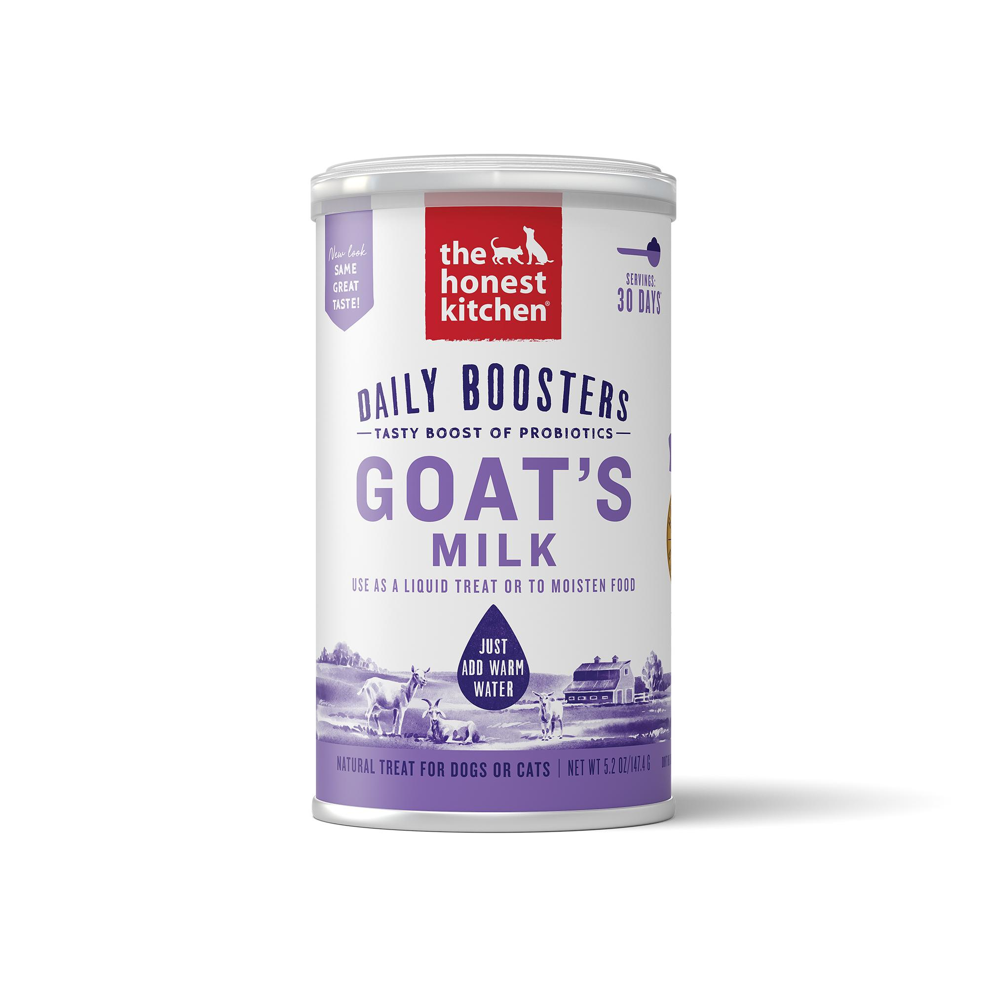 The Honest Kitchen Daily Boosters Instant Goat's Milk with Probiotics for Dogs & Cats, 5.2-oz (Size: 5.2-oz) Image