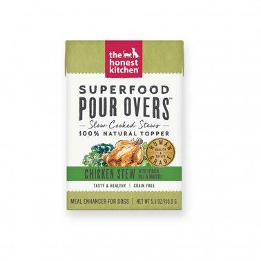 The Honest Kitchen Pour Over Superfood Chicken & Spinach Stew Dog Food, 5.5-oz