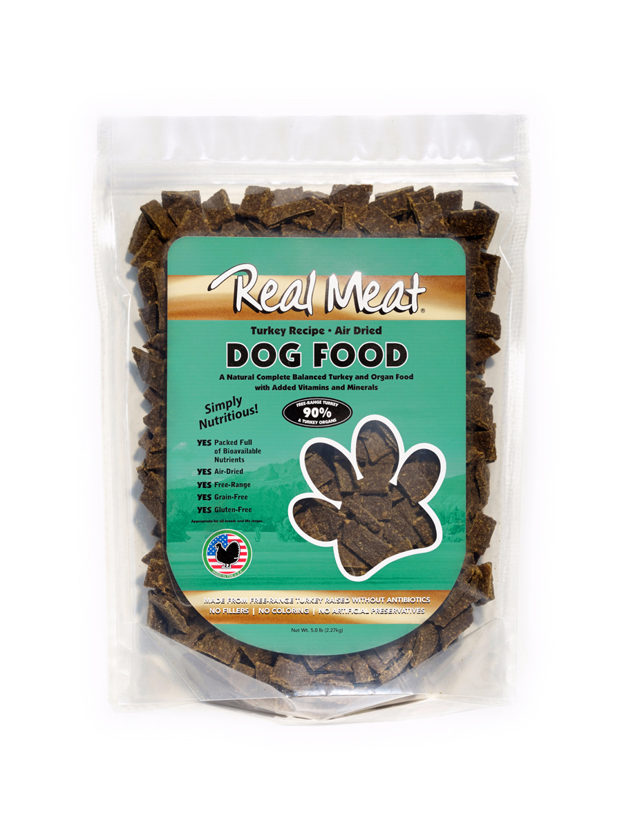 The Real Meat Company Turkey Grain-Free Air-Dried Dog Food, 10-lb