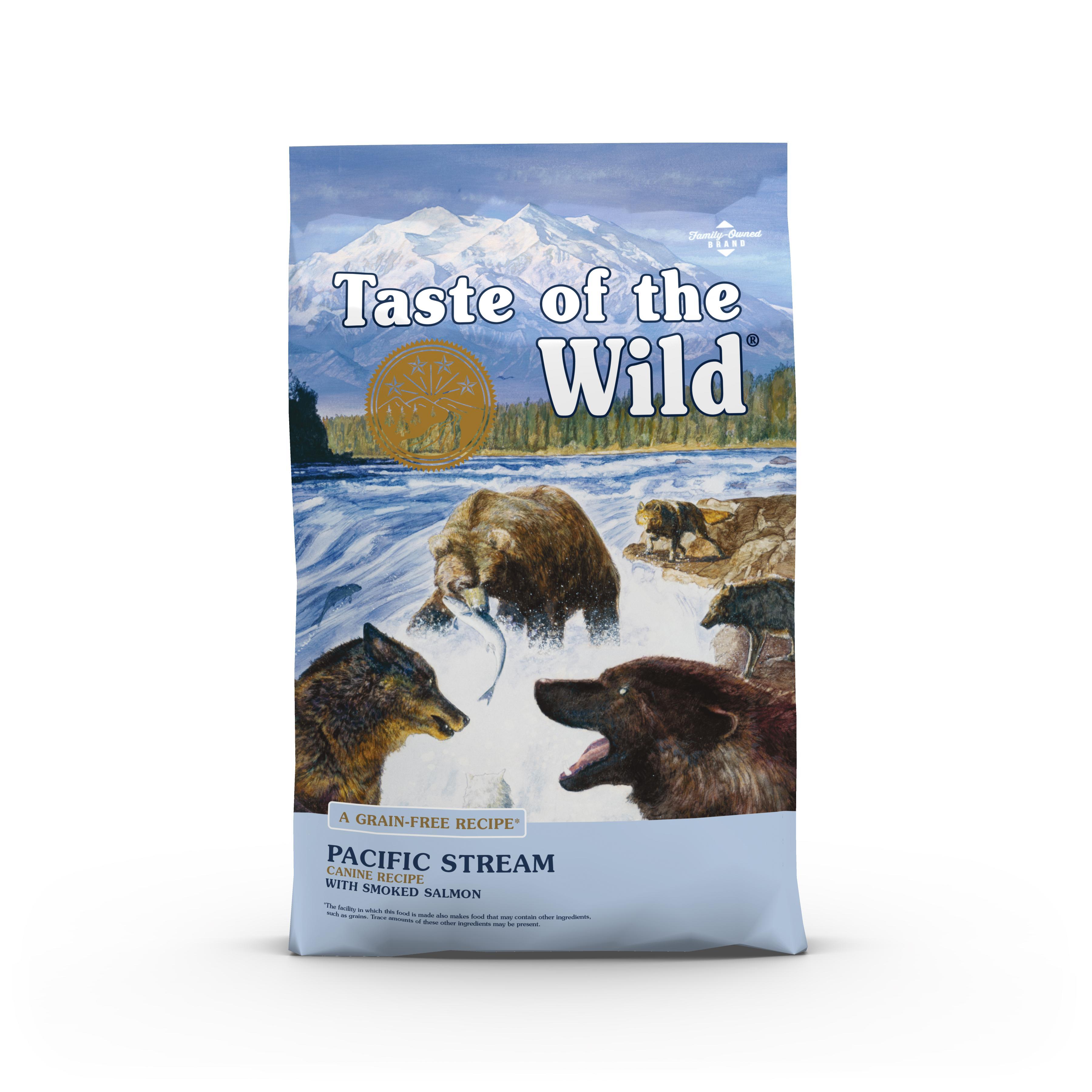 Taste of the Wild Pacific Stream Grain-Free Dry Dog Food, 14-lb
