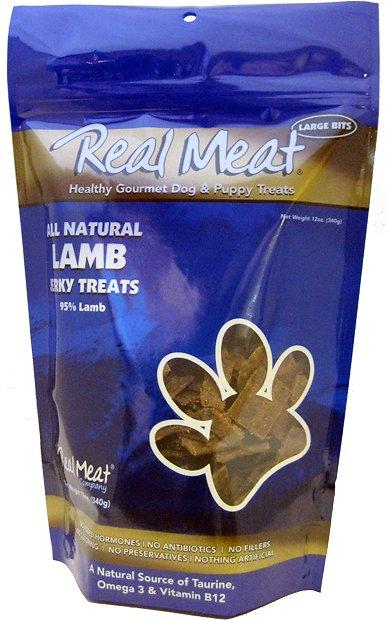 The Real Meat Company 95% Lamb Jerky Bitz Dog Treats Image
